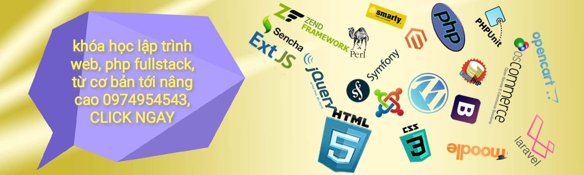 Dạy lập trình Website với PHP tốt nhất Việt Nam